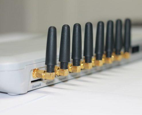 Telekommunikation wie dieser WLAN Router für Internet, Telefon und Computer